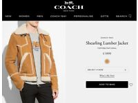 Shearling Jacket COACH