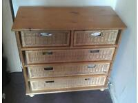Solid wood pine chest of drawers - can deliver