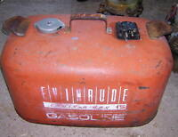 Vintage Evinrude Steel Gas Can Boat
