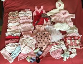 Baby girl 0-3 month clothes bundle