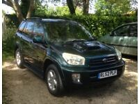Toyota Rav4 2.0 D-4D VX .12 Mths MOT. Imaculate condition.As new leather interior.Very low mileage.