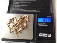 9ct Gold Anchor Chain & Bracelet, 31g