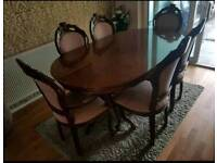 Italian Dining room table and chairs - NEGOTIABLE