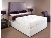 ONE YEAR GUARANTEE* BRAND NEW KING DIVAN BED WITH ROYAL 1000 POCKET SPRUNG MATTRESSES *LIMITED OFFER