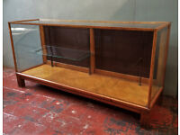Antique Haberdashery Shop Counter /Display Cabinet, Oak and Glass.