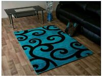 Brand new teal and black rug for sale rug 1