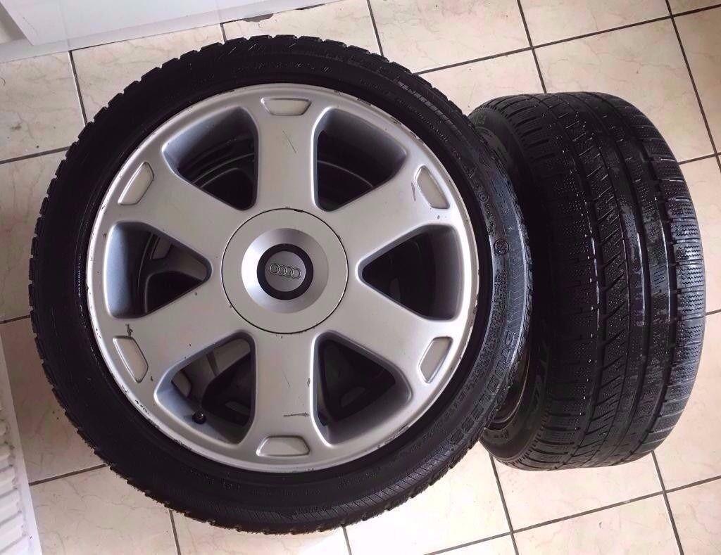 Alloy wheels, with bridgestone tyres, Genuine Audi S4