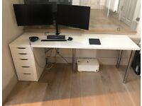 Ikea Desk With Drawers (200X60CM).
