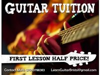 Professional guitar tutor/teacher for all levels of ability!