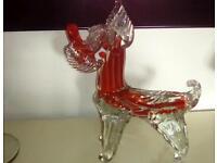 Stunning Vintage Murano glass Yorkshire Terrier Dog.