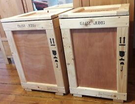 x4 WOODEN SHIPPING CRATES