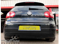VW Golf fitted with Custom built Proflow Middle and Rear Exhaust