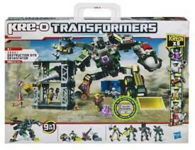KRE-O TRANSFORMERS DESTRUCTION SITE DEVASTATOR 9in1 SET - CONSTRUCTION NEW Sealed like Lego