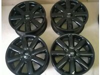 mini cooper alloy wheels 17 inch refurbished gloss black 4x100 with or without tyres