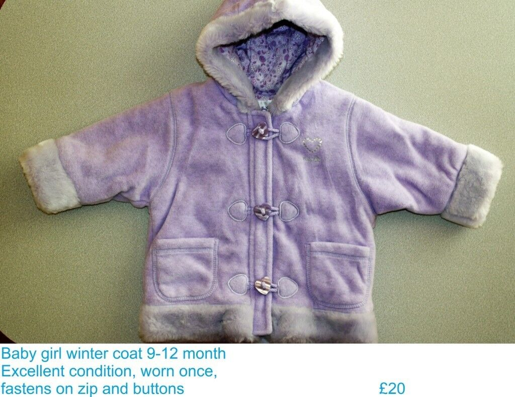 4c4154d4a Brand NEW Next baby girls winter coat age 9 -12 months