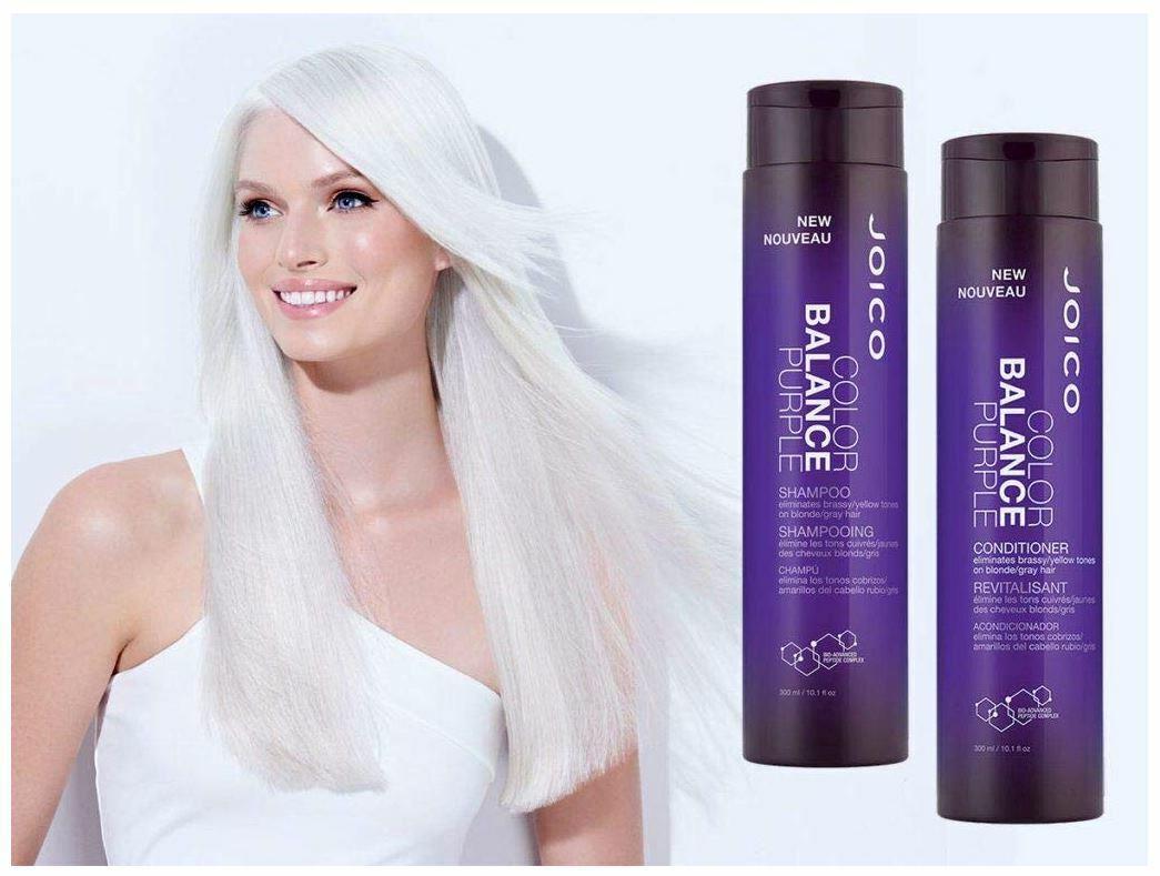 Purple Toning Shampoo Color Balance Brassy Hair Balancing Gray Blonde Tone Care