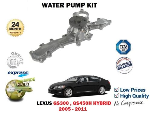 FOR LEXUS GS300 GS450H 2005-2011 NEW WATER PUMP 16100-39436