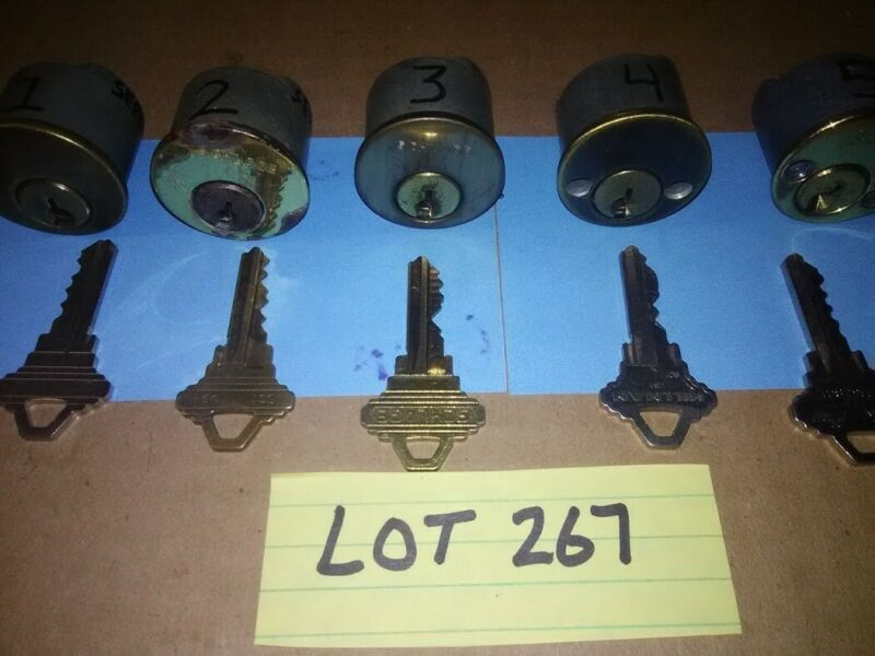 5 PCS.SCHLAGE PROGRESSIVE CHALLENGE LOCK SET..(SPOOL PINS) PICKERS, LOT #267