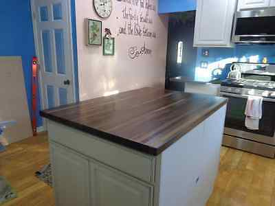 "Forever Joint Walnut Butcher Block Top 1-1/2""x26""x38"" Kitchen Island Top"