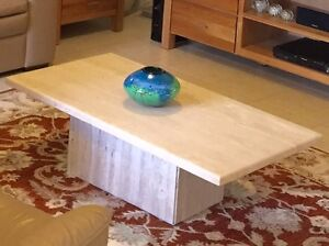 Coffee table, Travertine marble Kurrajong Hawkesbury Area Preview
