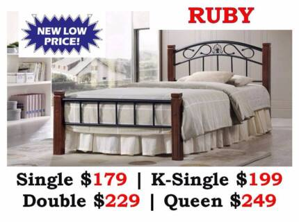 New Quality Bed Frames | Timber/Leather - DISCOUNT SALE