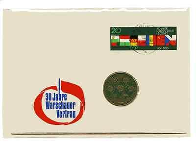 Numisbrief DDR: 30 Jahre Warschauer Vertrag von 1985