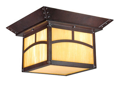 Outdoor Vaxcel Fixture Mission Porch Ceiling Lighting Bronze Lamp TL-OFU110EB