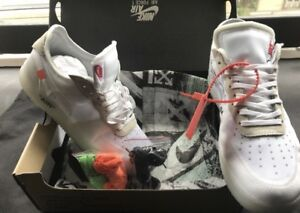 Nike air force one off white size 10