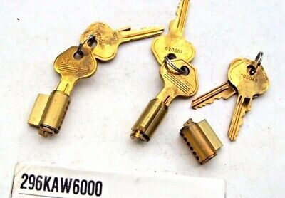 3  Master Lock Padlock Cylinders  296kaw6000 With 6 Keys