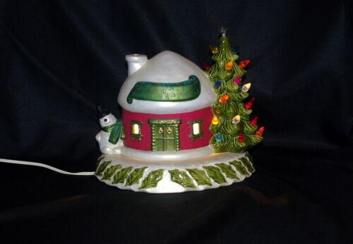 VINTAGE CERAMIC HOLLAND MOLD / SCARLATELLA MOLD SNOWMAN IGLOO CHRISTMAS TREE