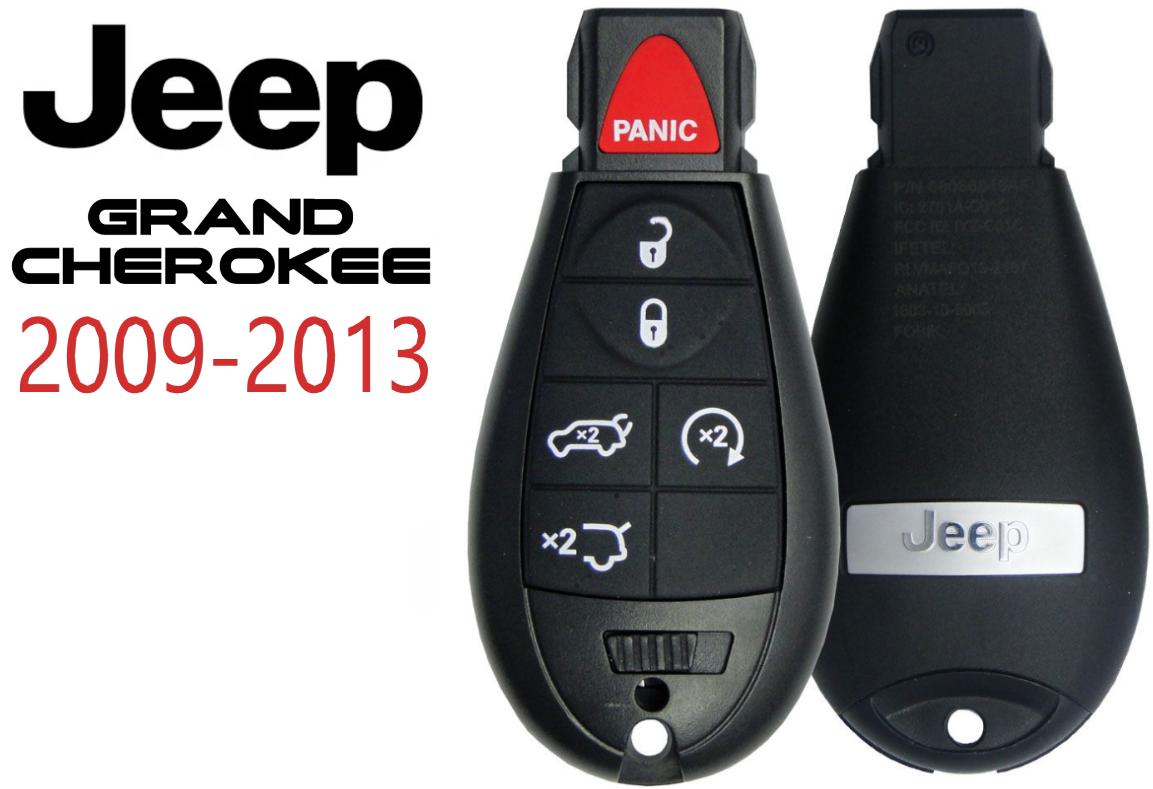 NEW Jeep Grand Cherokee 2008 - 2013 Fobik Remote Key  IYZ-C01C BEST Quality