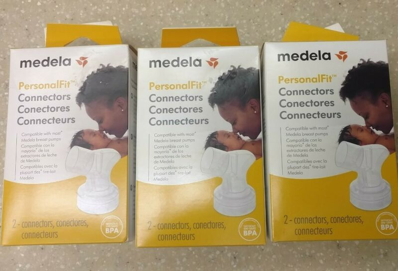 Medela PersonalFit Connectors 2 Count NEW - LOT of 3, 6 Connectors Total
