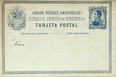VENEZUELA 10c FINE UNUSED UPU TARJETA POSTAL CARD