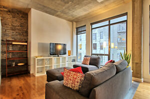 $2550 / 1br - 1000ft2 - Furnished condo Old Montreal, Bright!