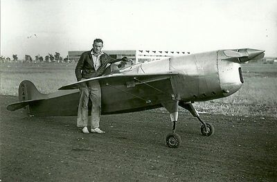 ROGER DON RAE & WITTMAN - CHIEF OSHKOSH MENASCO 1936 RACING AIRPLANE PHOTOGRAPH