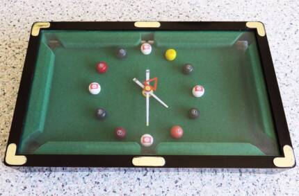 Novelty Pool Snooker Table Battery Operated Clock
