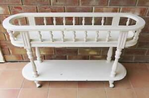 Vintage Shabby Chic White Wooden Plant Pot Planter Hall Stand Hallett Cove Marion Area Preview