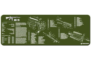 AR15-Armorers-Gun-Cleaning-Bench-Mat-w-Exploded-View-Schematic-Parts-List-OD