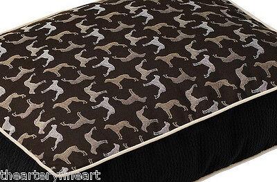 """WILLIAM WEGMAN x Crypton Fabrics 'Rotator' Designer Dog Bed 24"""" x 18"""" x 4"""" *NWT*"""