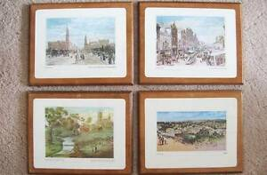 Set of 4 Placemat Prints, Adelaide & SA Historic Scenes Hallett Cove Marion Area Preview