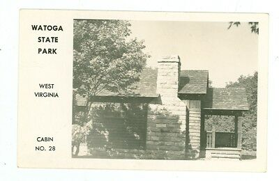 Cabin, Watoga State Park, West Virginia - REAL PHOTO (WmiscWV34 for sale  Carleton