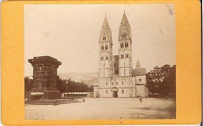 CDV photo Historische Ansicht einer Kirche - 1880er