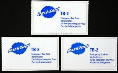 Park Tool TB-2 Emergency Road / MTB Bicycle Tire Repair Boot Kit - 3 Patch Pack