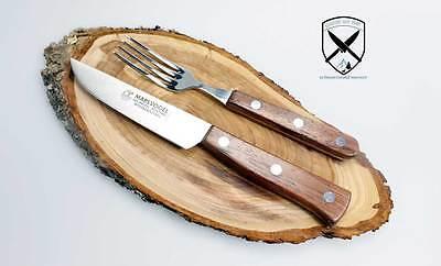 Sehr schönes Brotzeit,- Steakbesteck mit Holzgriff aus Solingen RF. - Schönes Brot
