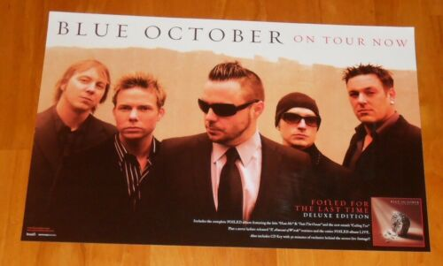 Blue October on Tour Foiled for the Last Time Poster Promo Original 11x17