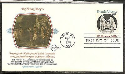 Us Sc   1753 French Alliance Fdc  Fleetwood Cachet  2