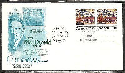 Canada SC # 617 James MacDonald FDC. Pair. Kingswood Cachet