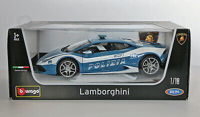 Bburago Lamborghini Huracan LP 610-4 POLIZIA 1:18 DieCast (Italian Design)-w/Box