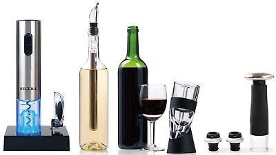 Secura Elite Wine Lovers Gift Set | 12-Piece Wine Accessories Set | Electric