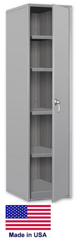 Storage Cabinet Commercial/indl - 12 Gauge Steel - 4 Shelf - Gray - 60x24x18  P